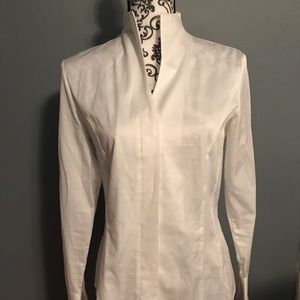 Women's Van Laack White Blouse Size 38 SEE PICTURE